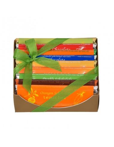Coffret tablettes de chocolat 9x50g