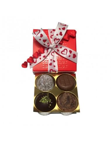 Valentinstag Truffes Box 4er