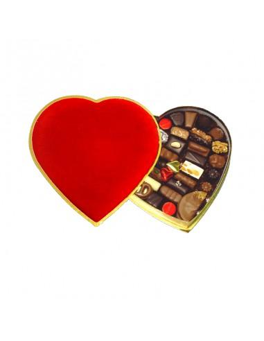 Coeur de velours avec pralines