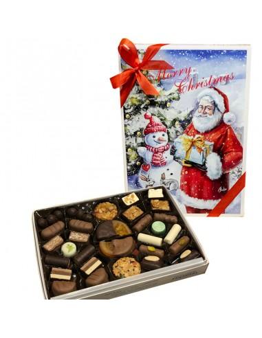 Boîte Père Noël / bonhomme de neige -...