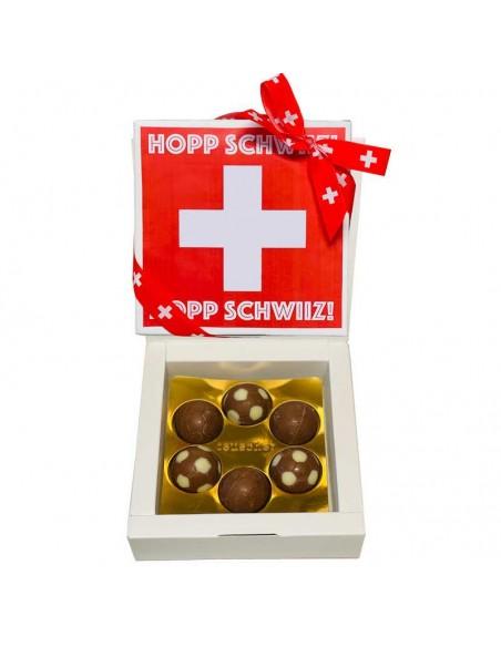 Hopp Schwiiz Schokolade Fussball