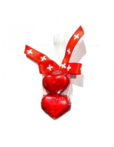 Coeurs au gianduja 2pcs Suisse