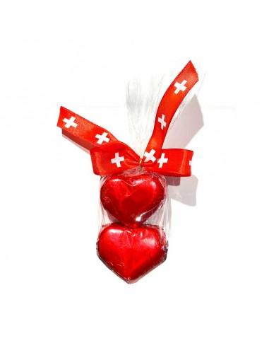 Gianduja Hearts 2 pcs. Switzerland
